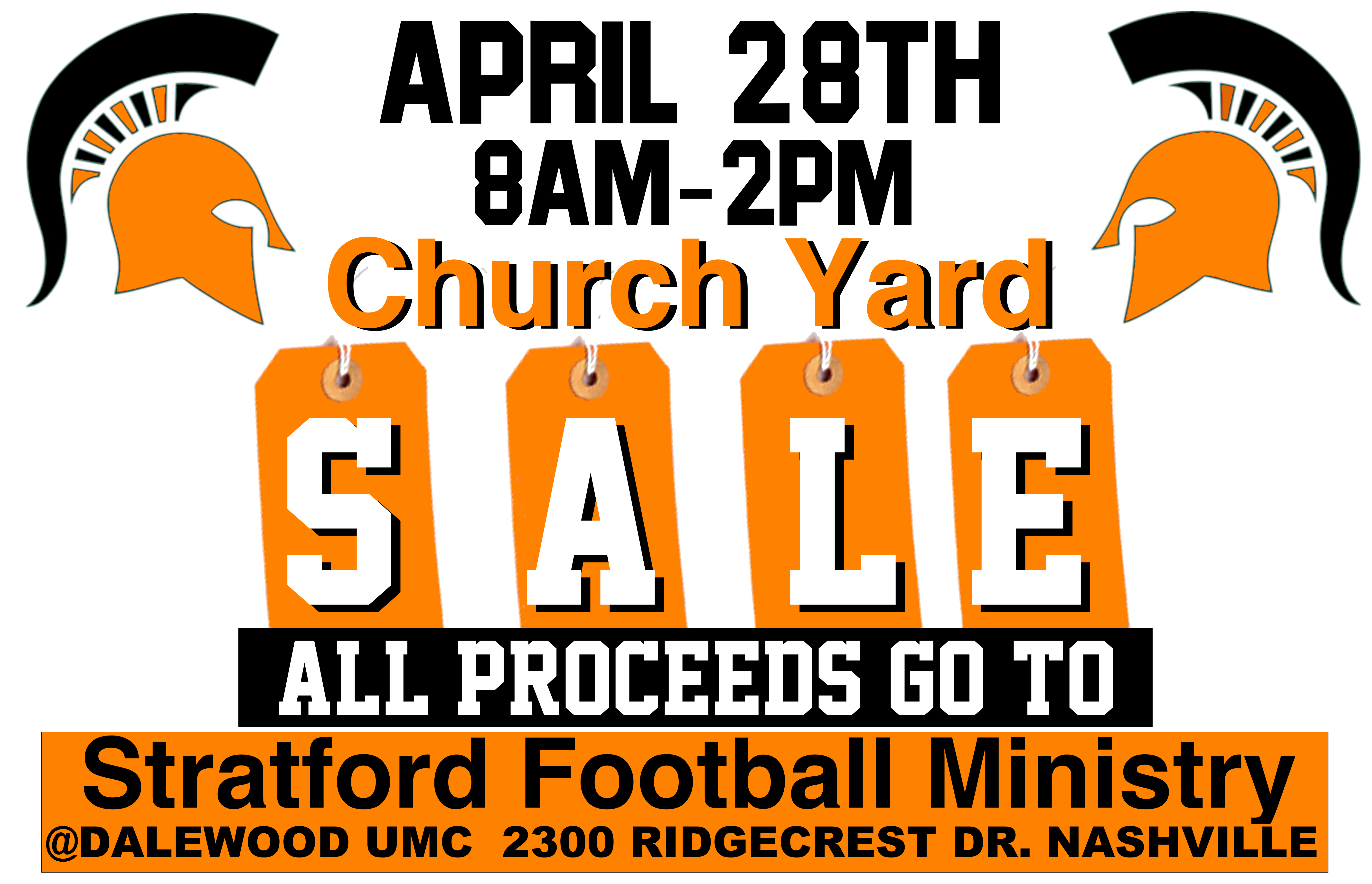 Church Yard Sale YARD SIGNS